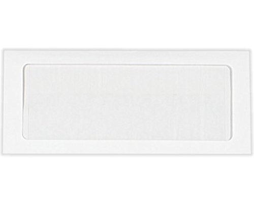 #10 Full Face Window Envelopes (4 1/8 x 9 1/2) - 28lb. Bright White (1000 Qty.)