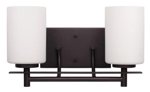 Oil Rubbed Bronze Bathroom Vanity Ceiling Lights: CANARM LTD. IVL363A02ORB Carlton 2 Bulb Vanity Light, Oil