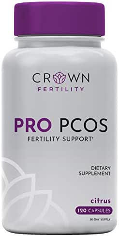 Crown Fertility PRO PCOS. Female Fertility Supplement Vitamin to Relieve Symptoms of PCOS and Help Aid Hormones- 120 Capsules (30-Day Supply) - Packaging May Vary