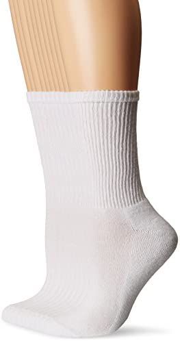 Gildan Women's Half Cushion Crew Socks, 10 Pairs