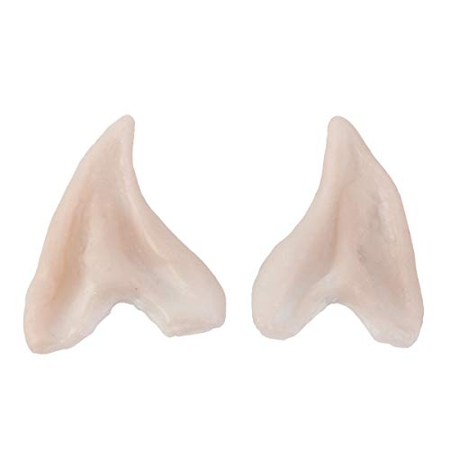 hicollie Pairs Medium Style Cosplay Pixie Elf Soft Pointed Tips Anime Party Dress Up Costume Masquerade Accessories Halloween Elven Vampire Fairy Ears