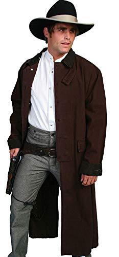 Coat Wale Corduroy - Rangewear By Scully Men's Long Canvas Duster Walnut Large