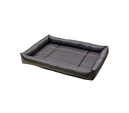 Pet Dog Bed Waterproof Cat Bed Soft Pp Cotton Summer Large Dog Bed for Husky Pitbull,Deep Gray,XXXL