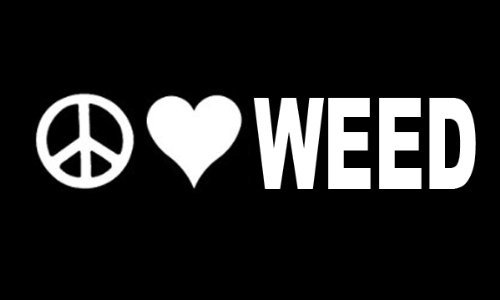 Peace Love Weed Vinyl Decal Sticker ( Two Pack ) | for sale  Delivered anywhere in USA