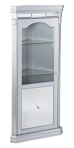 Small Corner Curio Cabinet (Southern Enterprises Mirrored Lighted Corner Curio Cabinet)