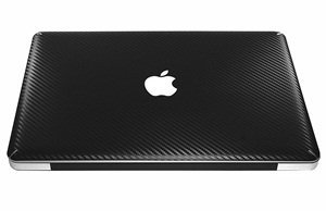 Bluecell 13-inch 13.3 Carbon Fiber Protection Decal Sticker Skin for Apple Macbook Pro 13.3 unibody model A1278 (Black Color)