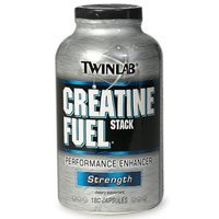 TwinLab Creatine Fuel Stack Performance Enhancer, Force, Capsules, 180-Count Bottle