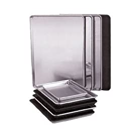 "Vollrath 5314 Sheet Pan, 1/2 size, 18""W x 13""D x 1""H 11 SET OF 2 PCS: just a perfect set for baking PROFESSIONAL QUALITY: Originally designed for commercial use in restaurants, these sheets will be a durable bakeware item in your kitchen for a very long time. CONVENIENT DESIGN: Thanks to its upturned lips, this pan prevents products from sliding off, and it's easy to hold when transporting food from the oven to a cooling rack."