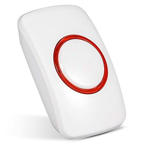 433MHz Wireless Home Security Emergency Button Siren Alarm, Zerone SOS Panic Button Alarm for WiFi GSM Home Security Alarm System