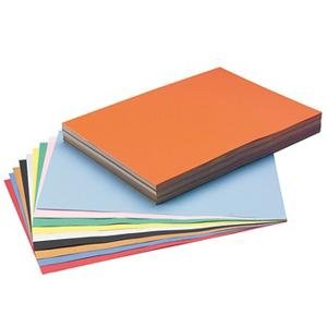 Pacon XP6512AA-1716 S and S Worldwide Tru-Ray and #174; Sulphite Construction Paper, 12