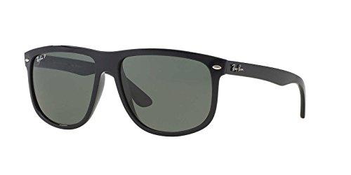 Ray-Ban Men's 0rb4147601/5856rb4147 Polarized Square Sunglasses, Black, 55 - 601 Rb4147 58