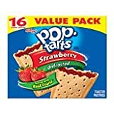 Pop-Tarts Strawberry Unfrosted Toaster Pastries 16