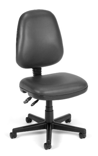 OFM 119-VAM-604 Straton Series Vinyl Task Chair, Charcoal by OFM