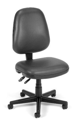 OFM 119-VAM-604 Straton Series Vinyl Task Chair, Charcoal (Charcoal Vam 604 Vinyl)