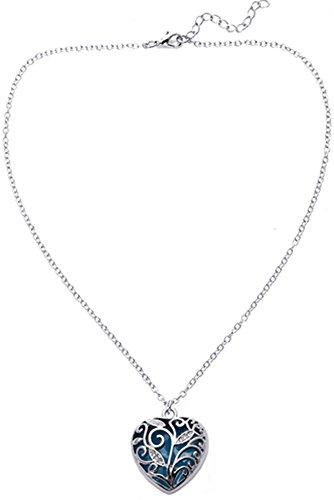 Big Heart Locket Glow in the Dark Necklace Jewelry Pendant Steampunk Fairy Magical (Big Locket)