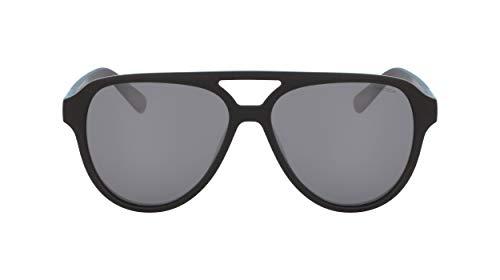 Nautica Men's N3632sp Polarized Aviator Sunglasses, Matte Black, 58 mm