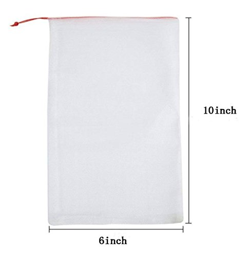LAVZAN 6'' X10'' (40Pcs) Nylon Netting Protect Bags For Fruits Vegetables Protect Your Fruit From Birds Insects Squirrels