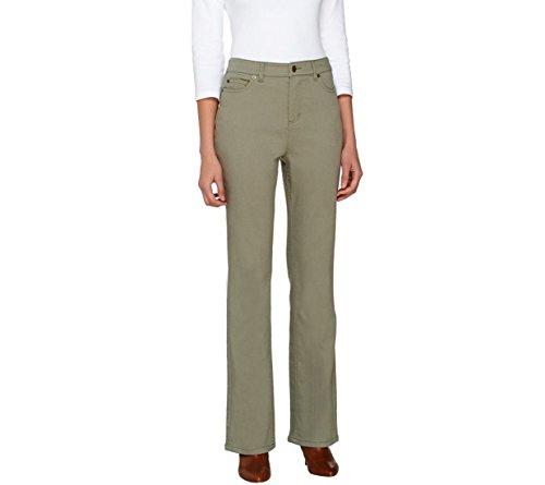 Liz Claiborne NY Hepburn Colored Bootcut Jeans A261291, Bay Leaf Green, 12