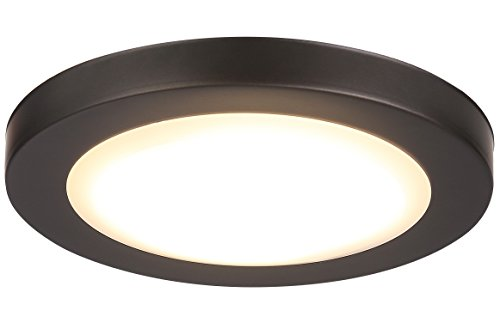 Cloudy Bay 7.5 inch LED Flush Mount Ceiling Light 4000K Cool White Dimmable 12W 840lm -100W Incandescent Fixture Equivalent,ETL,ORB Wet Location by Cloudy Bay