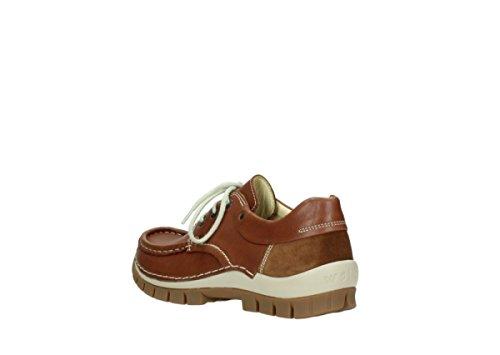 Fly Leder 70430 À Cognac Lacets Chaussures Comfort Wolky Zqz7FF