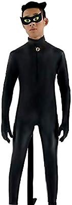 EVRYLON Disfraz Hombre niño Vestido Carnaval Talla XXL Chat Noir ...