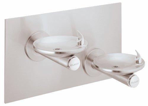 Elkay EDFPB117C Drinking Fountain, Bi-Level, SwirlFlo, ADA, Non-Refrigerated, Includes Back ()