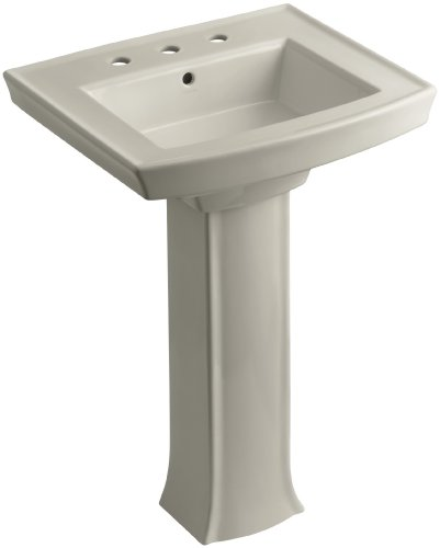 8 G9 Pedestal (KOHLER K-2359-8-G9 Archer Pedestal Bathroom Sink with 8