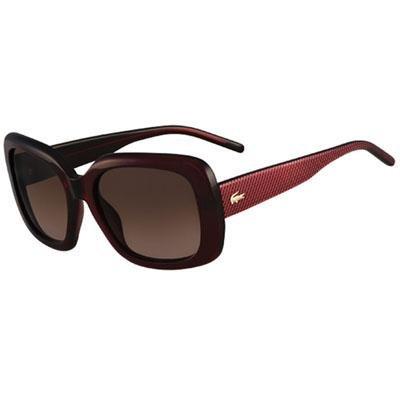 86ea83a556 Lacoste - Gafas de sol - para mujer rojo burdeos: Amazon.es: Ropa y  accesorios