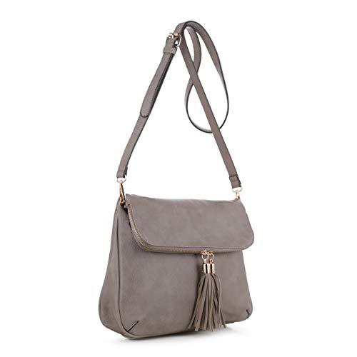 Concealed Carry Crossbody Bag | Firearm Purse | Detachable Strap | Gray