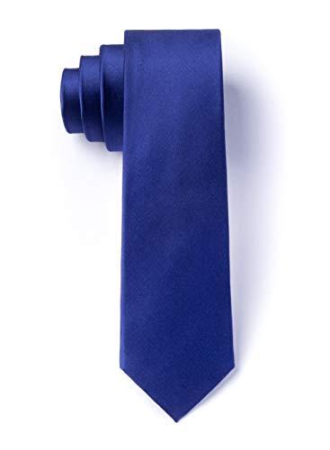 (Royal Blue Royal Blue Silk Tie For Boys)