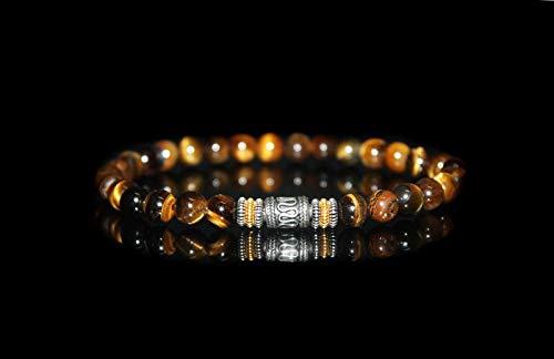 Tiger's Eye Bracelet, Men's Tiger's Eye and Sterling Silver Beads ()