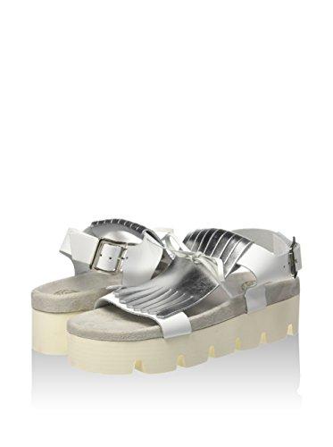 bianco Yuki silver Donna Sandali White Argento Fornarina SawdXqW