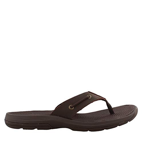 (Sperry Mens, Warwick Thong Sandals Brown 8 M)