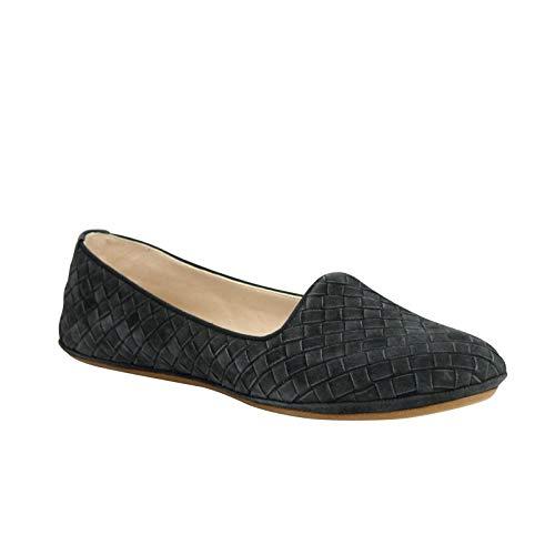 (Bottega Veneta Women's Slip On Gray Suede Leather Flat Shoes 338297 2015 (39 EU / 9 US) )