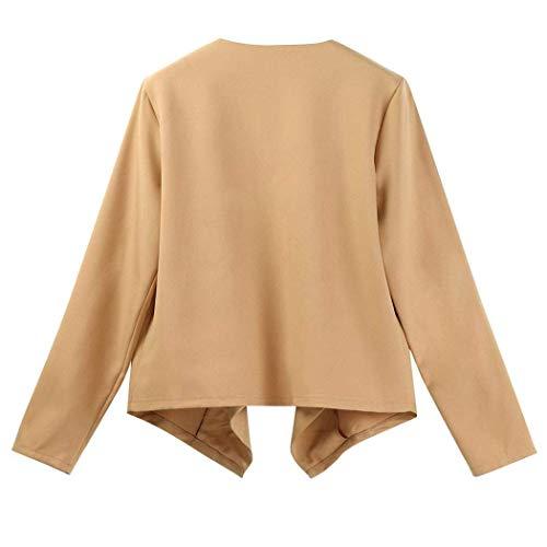 Coat Moda Autunno Forcella Outwear Cardigan Tempo Maniche Asimmetrico Relaxed Classiche A Kh Donna Donne Aperto Primaverile Monocromo Maglia Cappotto Giubbino Libero Lunghe 7wHEcWgqy
