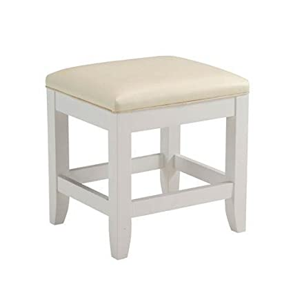 Amazon.com: Home Styles 5530-28 Naples Vanity Bench, White Finish ...
