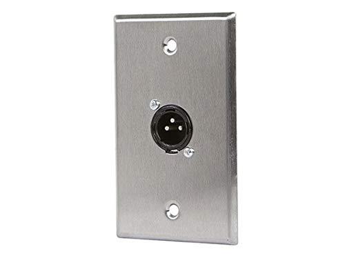 Monoprice 107397 XLR Male 3 -Pin One-Port Zinc Alloy Wall Plate ()