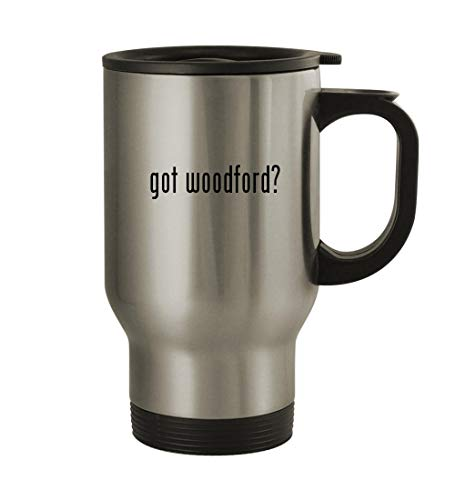 got woodford? - 14oz Sturdy Stainless Steel Travel Mug, Silver