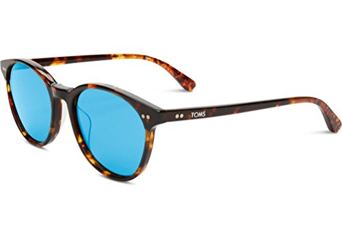 Toms Bellini Polarized Sunglasses Whiskey Tort/Tort Zeiss Blue, One - Sunglasses Whiskey Barrel