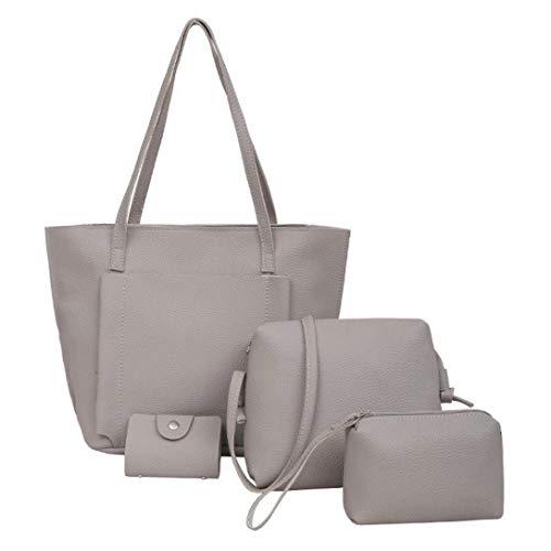 borsa rosso Rosa Dimensione a tracolla donne Borsa Colore quattro tote tracolla Borsa Grigio Moontang tracolla borsa a a Z4wt4nOp
