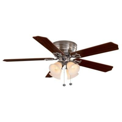 Hampton Bay Carriage House 52 In. Indoor Brushed Nickel Ceiling Fan ()
