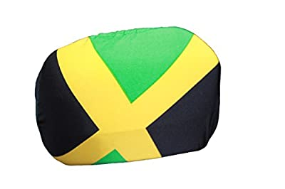 SUPERDAVE SUPERSTORE Jamaica Country Flag Car Side MIRROR COVERS 2 in a Pack .New