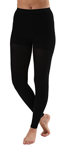Graduated Compression Stockings Leggings with Control Top - Firm support 20-30mmHg Absolute Suppoprt(Black, Largel) (Medi Stocking)