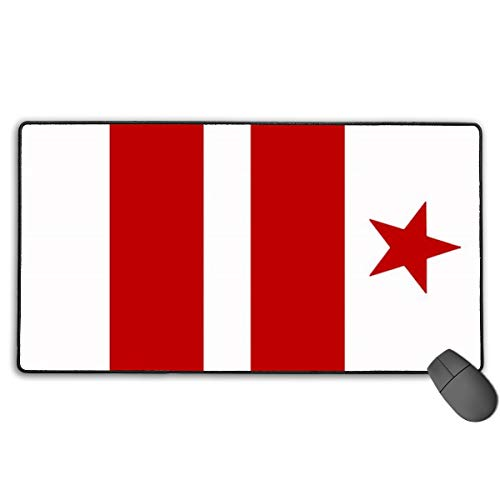 LNUO-2 Large Gaming Mouse Pad/Mat, Washington DC Flag Mousepad with Non-Slip Rubber Base for Typist Office, Durable Stitched -