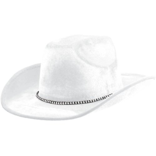 Amscan Velour Cowboy Hat, Party Accessory, White ()