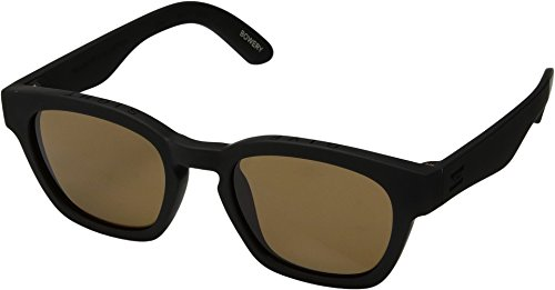 TOMS Unisex Bowery Matte Black/Brown - Bowery Sunglasses