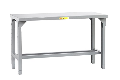Workbench 12 Steel Gauge (Little Giant WST1-3072-AH Welded Steel Workbench, 4000 lb. Load Capacity, 1 Half-Shelf, 27