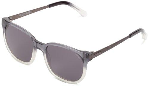 Vestal Windrose VVWR009 Wayfarer Sunglasses,Clear Grey & Grey,51 - Zeiss Sunglasses