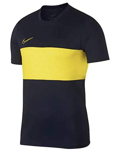 Nike Men's Dry Colorblock Short Sleeve Dri Fit Shirt (Black/Volt, Large) (Volt Shirt And Black)