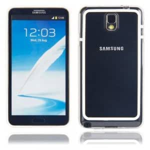 Frame Plastic Protective Case for Samsung Note3 Transparent White